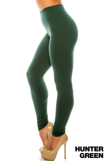 Wholesale Buttery Soft Basic Solid Extra Plus Size Leggings - 3X-5X - USA Fashion