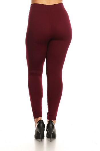 Wholesale Warm Fleece Lined Plus Size Leggings