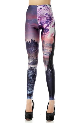 Front side image of Wholesale Premium Graphic New World Horizon Leggings