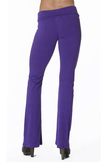 Front side image of Wholesale USA Solid Cotton Yoga Leggings