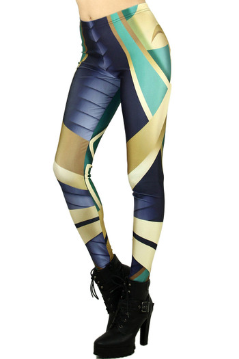 Wholesale Graphic Print Natural Armor Leggings