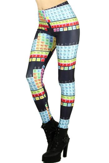 Wholesale Graphic Print Periodic Table Leggings