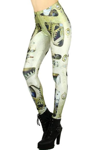 Wholesale Graphic  Mechanical Leggings
