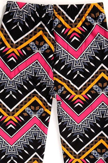 Wholesale Buttery Soft Colorful Tribal Chevron Kids Leggings