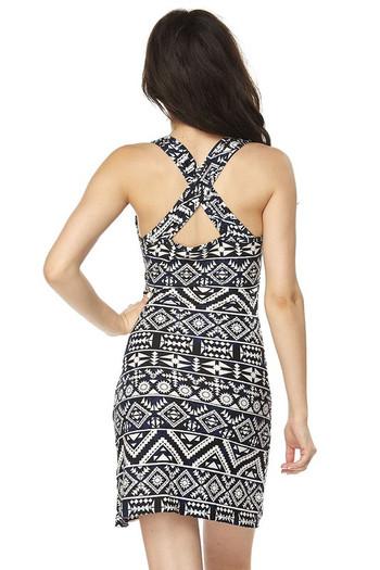 Wholesale Buttery Soft Tribal Cross Back Dress