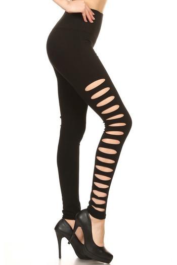 Wholesale Premium Side Slashed Seamless Leggings