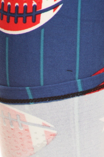 Wholesale Buttery Soft Football Plus Size Capris - LIMITED EDITION