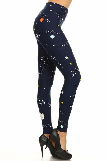 Wholesale Buttery Soft Outer Space Plus Size Leggings
