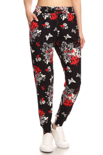 Wholesale Buttery Soft Butterfly Bloom Joggers