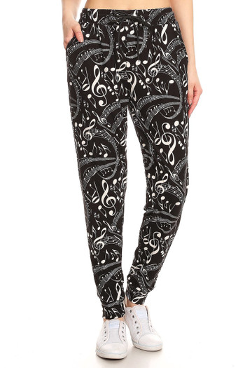 Wholesale Buttery Soft Music Note Joggers