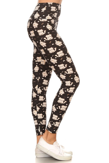 Wholesale Buttery Soft Bow Tie Kitty Cats High Waisted Leggings