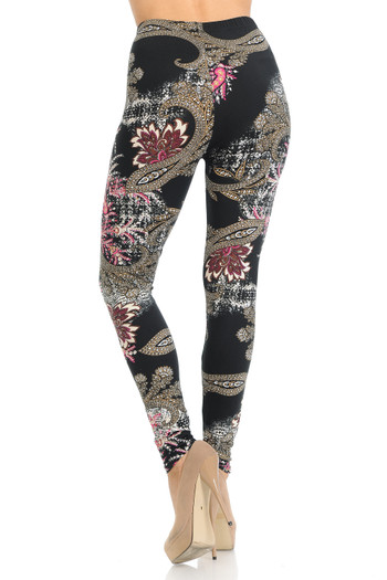 Wholesale Buttery Soft Berry Plume Leggings