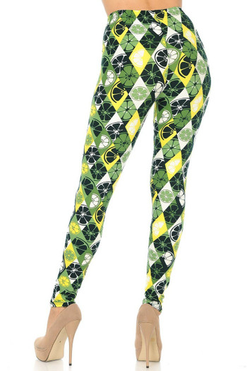 Buttery Soft Luck of the Irish Lime Leggings - Plus Size