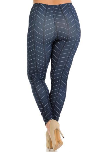 Wholesale Creamy Soft Vertical Swirl Plus Size Leggings - Signature Collection