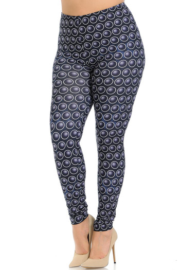 Wholesale Creamy Soft 3D Ball Bearing Plus Size Leggings - Signature Collection