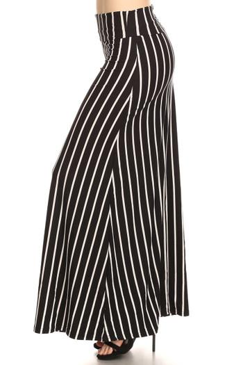 Wholesale Buttery Soft Black Pinstripe Maxi Skirt