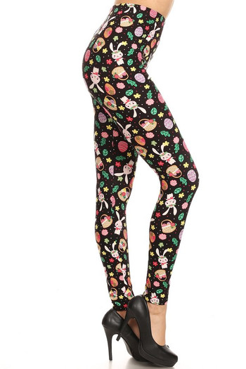 Wholesale Buttery Soft Happy Easter Plus Size Leggings - 3X-5X