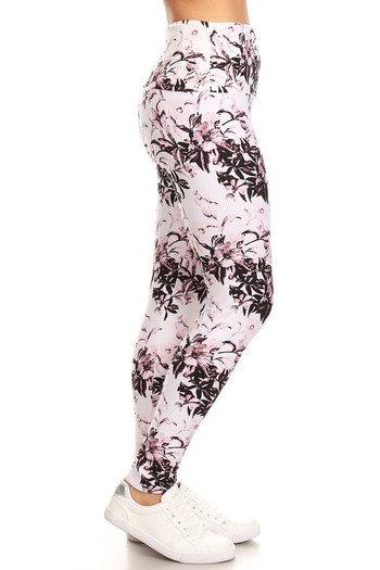 Wholesale Buttery Soft Pastel Blossom Bloom High Waist Leggings