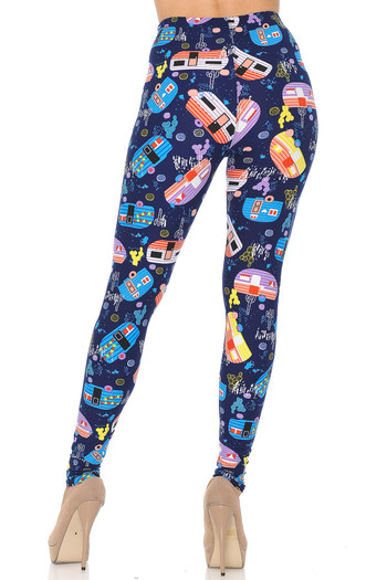 Wholesale Buttery Soft Retro Campers Leggings - XSmall