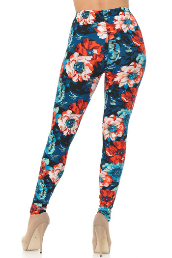Wholesale Buttery Soft Painted Floral Leggings