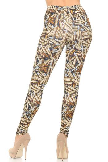 Wholesale Soft Double Brushed Bronze Bullets Leggings