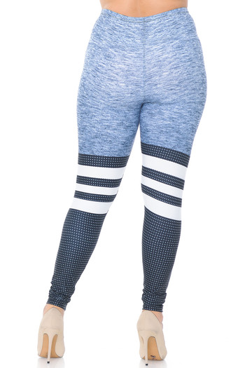 Wholesale Creamy Soft Split Sport Plus Size Leggings - USA Fashion™