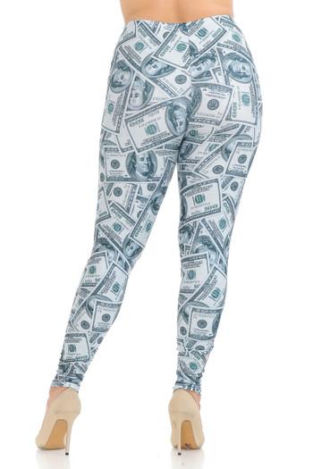 Wholesale Creamy Soft Raining Money Plus Size Leggings - USA Fashion™