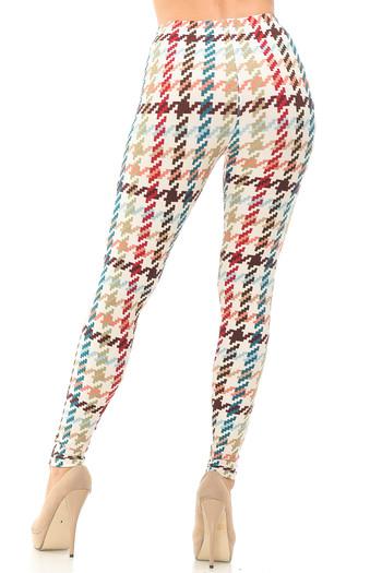 Wholesale Buttery Soft Earth Tone Pixel Zags Leggings