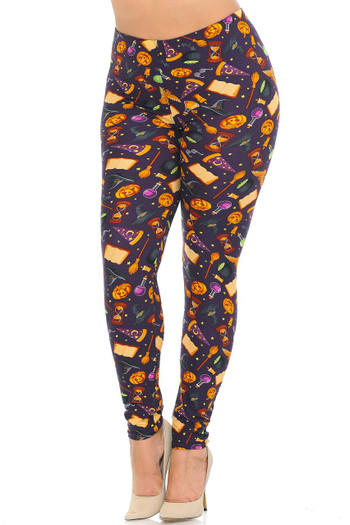 Wholesale Buttery Soft Everything Halloween Plus Size Leggings