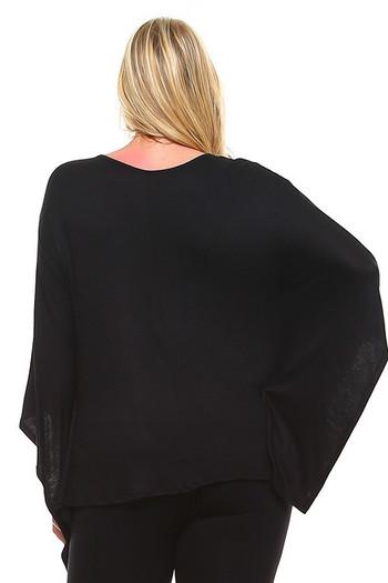 Wholesale Round Neck Cape Style Sleeveless Rayon Plus Size Top