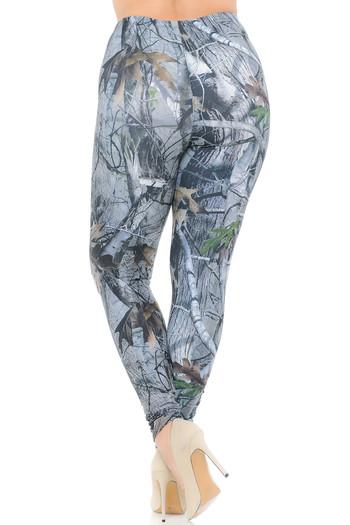 Wholesale Creamy Soft Camouflage Trees Extra Plus Size Leggings - 3X-5X - USA Fashion™