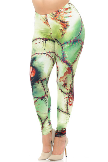 Wholesale Creamy Soft Zombie Plus Size Leggings - USA Fashion™