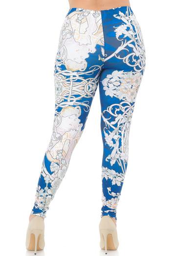 Wholesale Creamy Soft Twisted Eden Vine Plus Size Extra Plus Size Leggings - 3X-5X - USA Fashion™