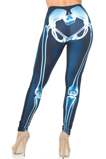 Wholesale Creamy Soft Radioactive Skeleton Bones Leggings - USA Fashion™