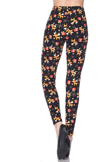 Wholesale Buttery Soft Presents and Baby Reindeer Christmas Plus Size Leggings