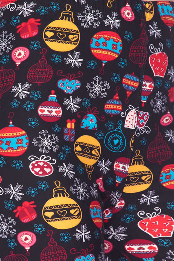 Wholesale Buttery Soft Colorful Christmas Ornaments Kids Leggings