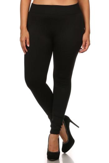 Wholesale Premium Women's Fleece Lined Plus Size Leggings - Multi Size