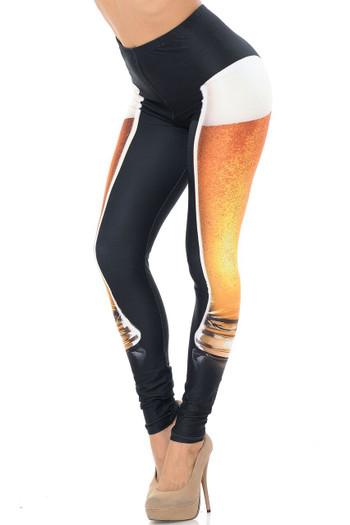 Wholesale Creamy Soft Draft Beer Plus Size Leggings - USA Fashion™