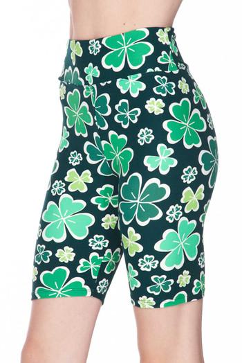 Wholesale Buttery Soft Green Irish Clover Shorts - 3 Inch