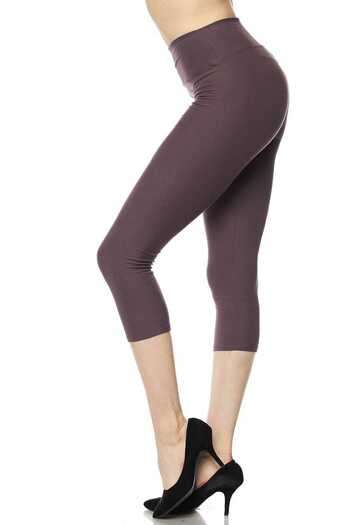 Wholesale Buttery Soft Basic Solid High Waisted Extra Plus Size Capris - 3 Inch - 3X-5X  - New Mix