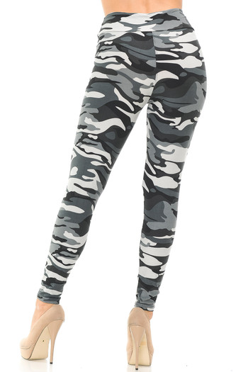 Wholesale Buttery Soft Charcoal Camouflage High Waisted Leggings