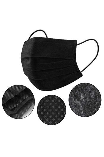 Wholesale Black Disposable Single Use Face Masks - 50 Pack