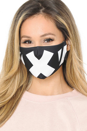 X Face Graphic Print Face Mask