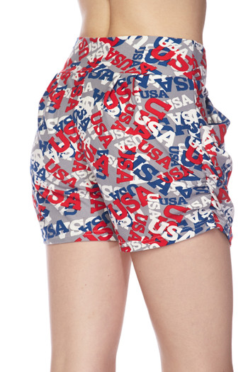 Wholesale Buttery Soft All Over USA Shorts
