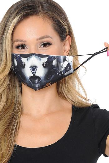 Wholesale Top Gun Fighter Pilot Graphic Print Face Mask
