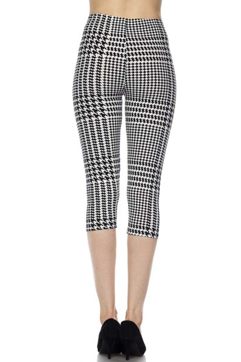 Wholesale Buttery Soft Moving Houndstooth Plus Size Capris