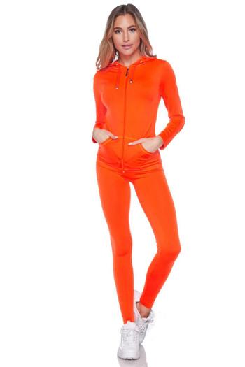 Wholesale Premium Zip Up Hoodie Jacket and Legging Set