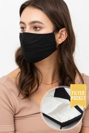 Wholesale Solid Face Mask with Built In Filter and Nose Bar