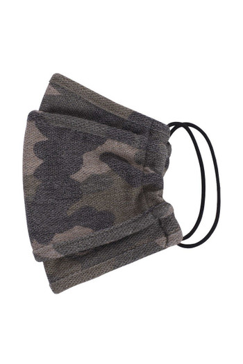 Wholesale Tri-Fold Rustic Camouflage Face Mask - Made in USA
