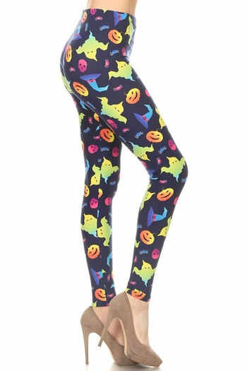 Wholesale Buttery Soft Ghostbusters Ghosts Halloween Plus Size Leggings